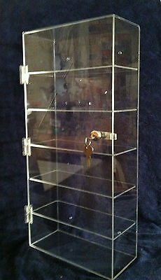 "#CHRISTMAS SPECIAL ## ....Acrylic Display Case 12""x 6.5"" x23.5"" Locking Showcase"