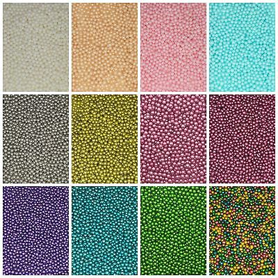50g Bag - 4mm Edible Sugar Balls Sugarcraft Cupcake Cake Decoration Sprinkles
