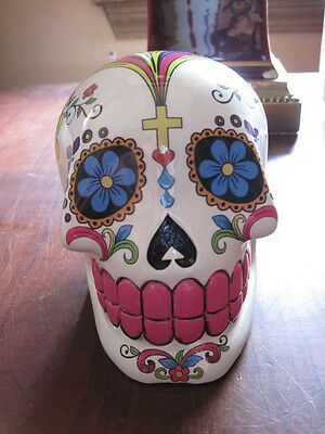 Day of the Dead Sugar Skull Money Bank, piggy bank, collectable, vibrant colors
