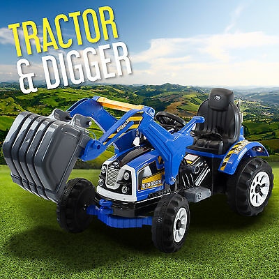 Ride On Tractor With Loader Tipping Bucket Electric Kids Tractor Dumper Digger