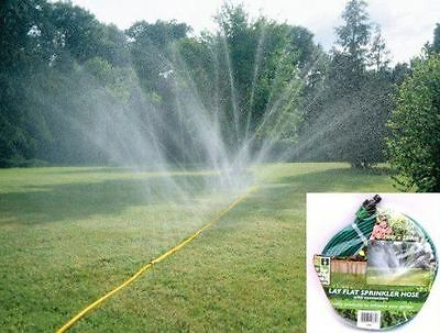 7 M X 20Mm Lay Flat Garden Outdoor Lawn Water Sprinkler Hose W Connectors New