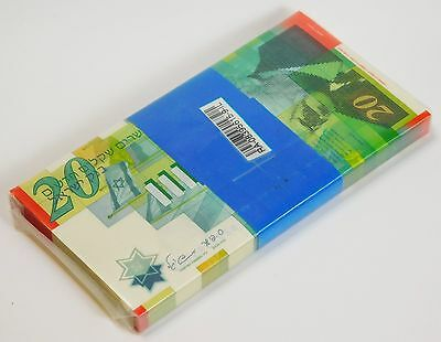 ISRAEL 20 SHEKEL 2008 P 64 UNC BUNDLE of (100 NOTES)