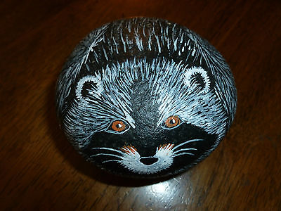 Hand Painted Rock - Raccoon - 'Pet' Rock
