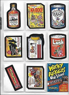 Wacky Packages Old School Series 2 Set 33 Cards Plus 9 Card Puzzle & Wrapper