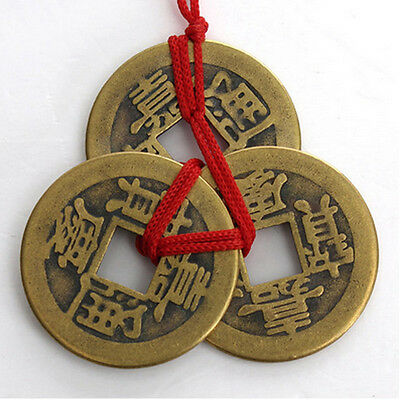 New 2 Set Of 3 Chinese Feng Shui Coins For Wealth And Success Lucky 2016