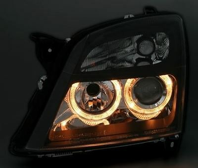 Vauxhall Vectra C 2002-2005 Black Angel Eyes Halo Headlights Pair