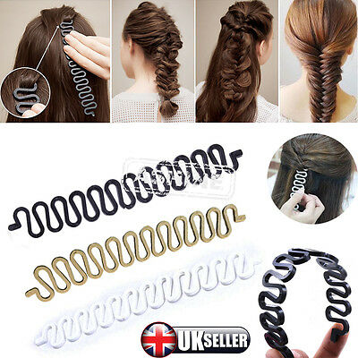 UK French Hair Braiding Tool Roller With Hook Magic Hair Twist Styling Bun Maker