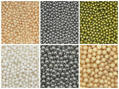 50g Bag - 6-8-10mm Edible Sugar Balls Sugarcraft Cup Cake Decoration Sprinkles