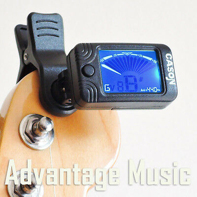 CS-5 Accurate And Simple LCD Clip On Digital Tuner Guitar Bass Ukulele Banjo