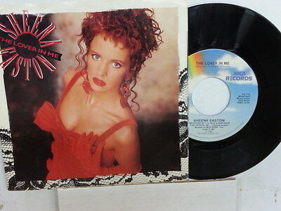 "SHEENA EASTON 45 RPM ""The Lover in Me"" with original picture sleeve VG+ cond"