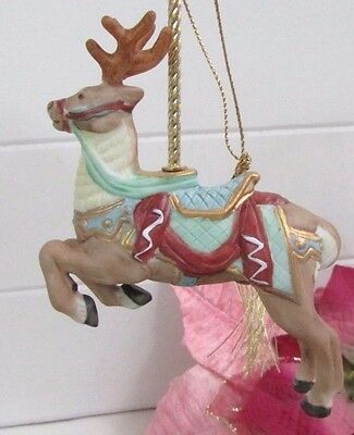 1989 Lenox Porcelain Reindeer Christmas Ornament