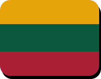 Lithuanian Flag Mousemat  Free Personalisation