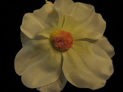 """Vintage Millinery Flower Pink Shaded Cosmos 4/"""" Showy for Bridal Hat or Hair Y133"""
