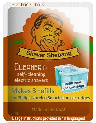 3 Philips Norelco SmartClean cartridge refills-1 Shaver Shebang-Electric Citrus