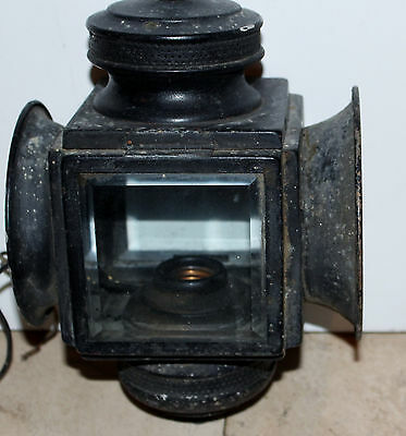 Vintage Wall Mount Lantern By Feldman, Exterior Light Fixture Art Deco Decor