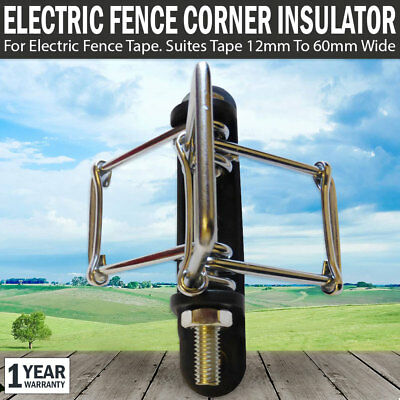 NEW Electric Fence Pinlock Insulator Corner Post Poly Tape UV Resistants