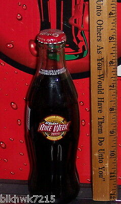 2004 Bike Week Daytona Florida World's Largest Motorcycle 8Oz Coca  Cola  Bottle