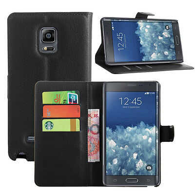 Luxury PU Leather Wallet Card Flip Case Stand Cover For Samsung Galaxy Note Edge