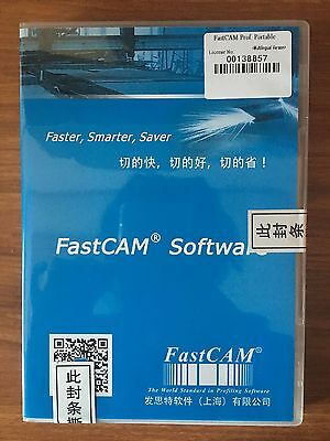 Fastcam Professional Nesting Software  Portable Version for CNC Plasma Cutting