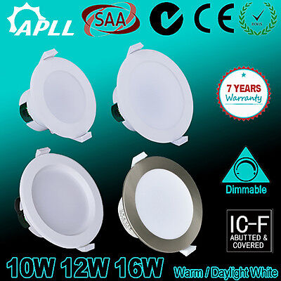 10W 12W 16W Ip44 Non-Dim Dimmable Led Downlights Kit Warm/daylight White