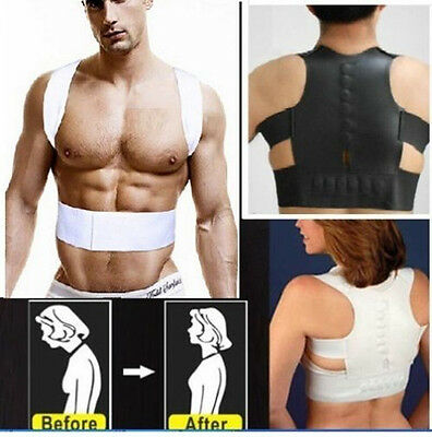 Magnetic Therapy Posture Support Body Back Pain Belt Brace Shoulder Corrector US
