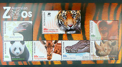 Australian Decimal Stamps: 2012 Australian Zoos - 150 Years - Mini Sheet MNH