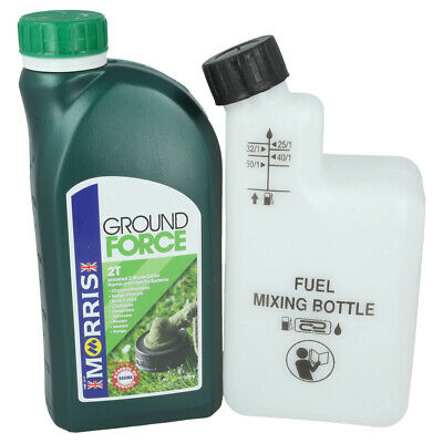 1 Litre Of 2 Stroke Oil & Fuel Petrol Mixing Bottle Ideal For McCULLOCH Chainsaw