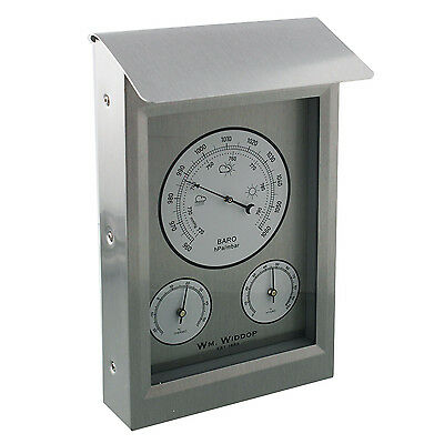Aluminium Wall Mounted Weather Station With Barometer Thermometer + Hydrometer