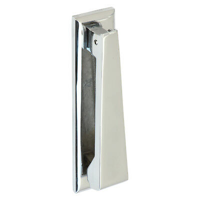 Door Knocker - Contemporary Style + Polished Chrome   BASE METAL BRASS