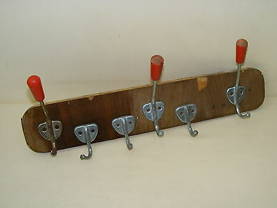 Old Wardrobe, Coat Hook Wall Coat Hook Rail Wood Cult Retro