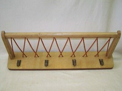Old Wardrobe, Coat Hook Hat Rack Hook Rail Wood, Cult Retro 1950s Years