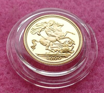 2000  Gold Proof Half Sovereign  Coin Box And Coa