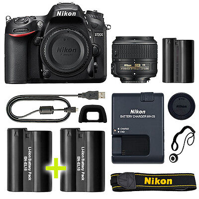 Nikon D7200 Digital SLR Camera with 18-55mm NIKKOR Lens + Backup Power Kit