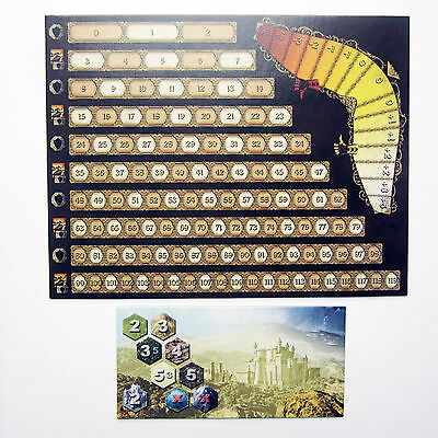 NEW Mage Knight Board Fame & Reputation Track + Day/Night Board Score Game Parts