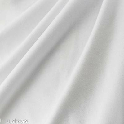 Plain White 100% Cotton Fabric Material - 280cm Extra Wide per metre