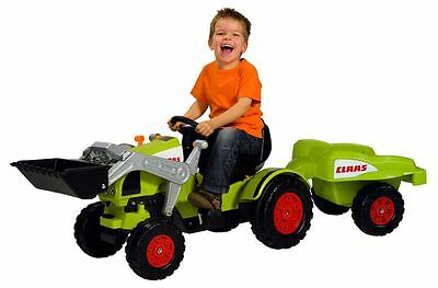 Kids Tractor Big Claas Celtis Loader and Trailer Pedal car tractor NEW/OV