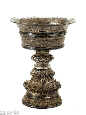 Old Chinese Tibetan Tibet Buddha Sterling Silver Yak Butter Lamp Cup