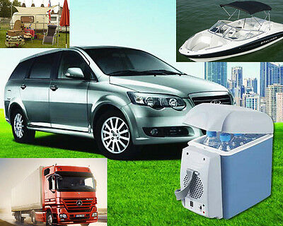 12V 7.5L Portable Cooling Warming Box Mini Travel Fridge Car Van Camping Office