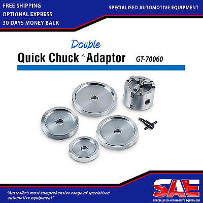 Brake Lathe Double Quick Chuck Adaptor Kit with 4 Backing Plates GT-70060