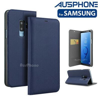 Leather Wallet Card Flip Case Cover for Samsung Galaxy S8 plus S9 S7 Note 9 8