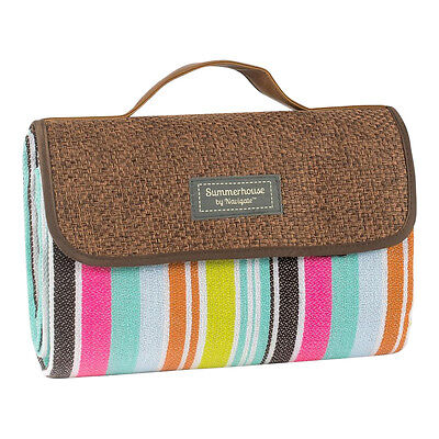 Ipanema Hessian Style Stripe Blanket – Beach – Picnic - Carry Handle