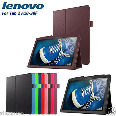 New Wallet Leather Stand Flip Case Cover Pouch For 10.1In Lenovo Tab 2 A10-30F