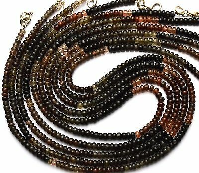 Natural Multicolor Scapolite 4Mm Approx. Rondelle Beads Necklace 80Cts. 18""