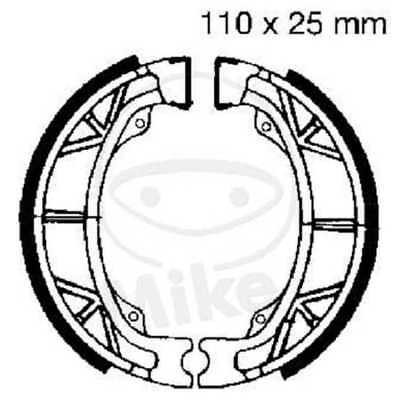 EBC brake shoes H303 front rear Giantco Dolphin Twin 50 4T 10 Inch