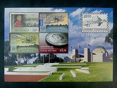 Australian Decimal Stamps: 2010 Canberra Stamp Show - Special Mini Sheet MNH