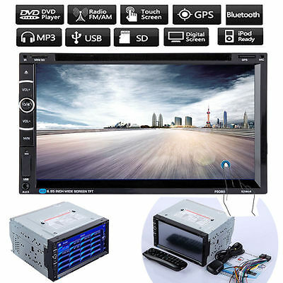 """7"""" Bluetooth Touch Double 2Din In dash Car Stereo Radio GPS MP3 CD DVD Player"""