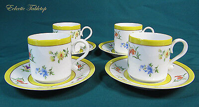 Four H & Co. Heinrich Grand Duchess Demitasse Cups and Saucers