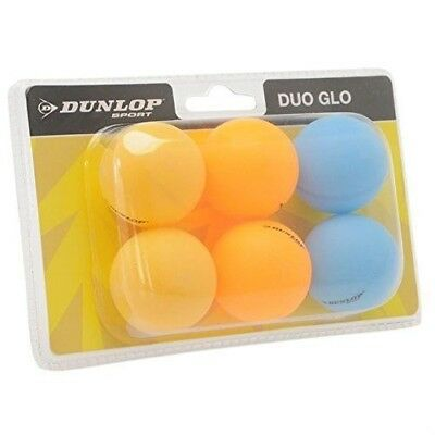 Dunlop Unisex Duo Glo Table Tennis Balls 6 Pack Ping Pong Fun Play Sports