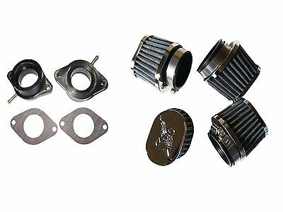 Mikuni 34mm VM carb performance air filters Manifold holder Yamaha xs650  80-84
