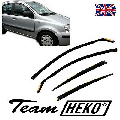 DFI15137 FIAT PANDA mk2 5 DOOR 2003-2012 WIND DEFLECTORS 4pc HEKO TINTED